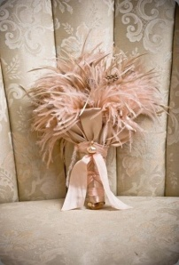pink feather bouquet
