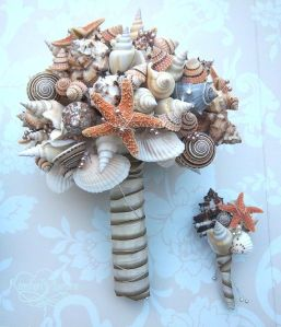 Seashell bouquet courtesy of Etsy