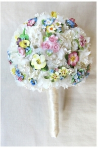 Vintage China Brooch Posy DC Bouquet